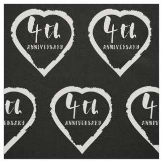 4TH Wedding Anniversary Linen Fabric