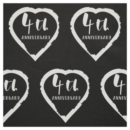 4TH Wedding Anniversary Linen Fabric