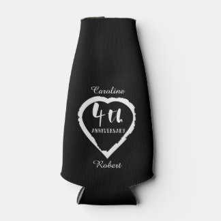 4TH Wedding Anniversary Linen Slik Bottle Cooler
