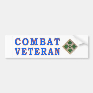 4thINFANTRY DIVISION Bumper Sticker