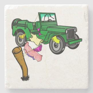 4WD adventue Stone Beverage Coaster