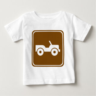 4WD Off-road Trail Highway Sign Baby T-Shirt