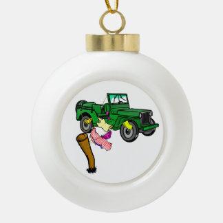 4WD off roading Ceramic Ball Ornament