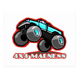 4x4 Madness: Jumping off-road Monster Truck Postcard