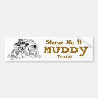 4X4 Mud Truck Bumper Sticker