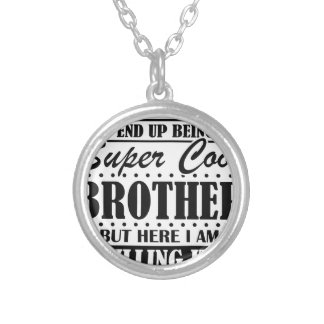 4x4 silver plated necklace