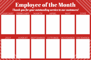 employee month posters prints poster printing zazzle ca