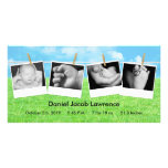 4x8 Clothes Line Portrait PHOTO Birth Announcement Photo Greeting Card
