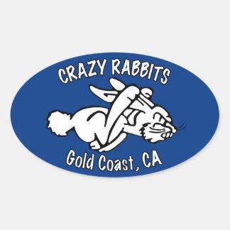 4x Crazy Rabbet gold coast sticker