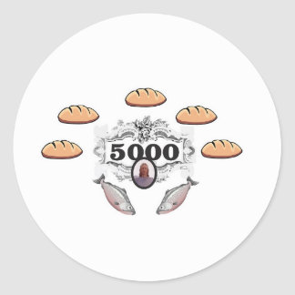 5000 fed miracle jc classic round sticker