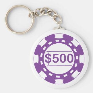 $500 Casino Chip Keychain