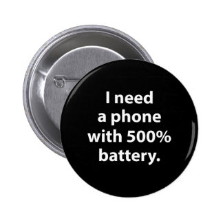 500 Percent Battery 2 Inch Round Button
