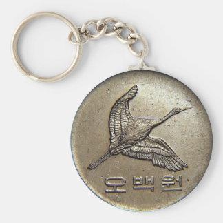 500 won coin Korean Keychain