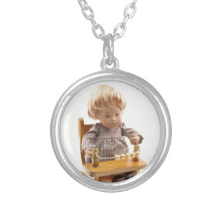 501 Sasha baby honey blond Sandy ornamentation Silver Plated Necklace