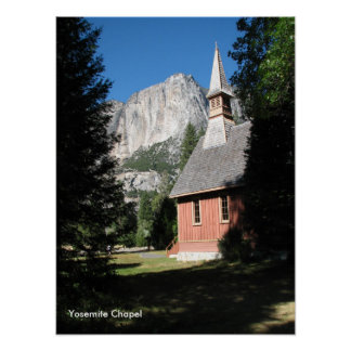 501. Yosemite Chapel Poster