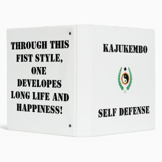 501px-Kajukenbo-crest_svg, Kajukembo , Self Def... 3 Ring Binder