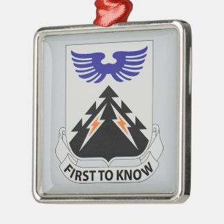 502nd Aviation Regiment - First To Know Silver-Colored Square Ornament
