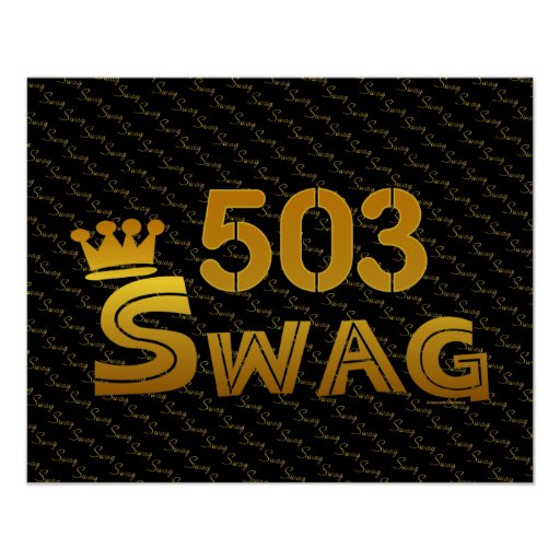 503 Area Code Swag Print