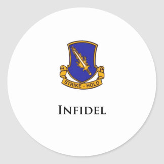 504th PIR- Infidel Classic Round Sticker