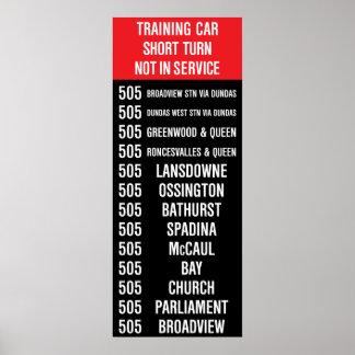 505 DUNDAS Replica TTC Streetcar Rollsign Posters