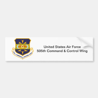505th Command and Control Wing Car Bumper Sticker