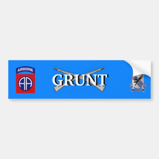 505th Infantry 82nd Airborne GRUNT Bumper Sticker