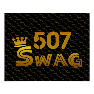 507 Area Code Swag Poster