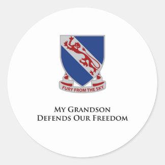 508th Grandson Defends Our Freedom Round Sticker