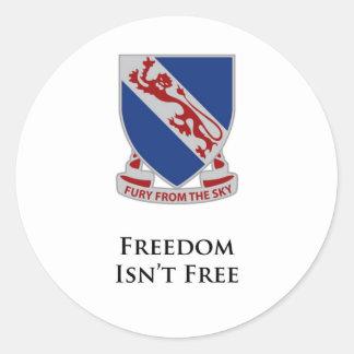 508th PIR-Freedom Isn't Free Classic Round Sticker