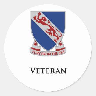 508th PIR- Veteran Classic Round Sticker