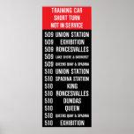 509 HARBOURFRONT/510 SPADINA Replica TTC Roll Sign