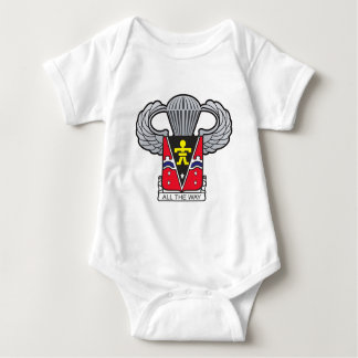 509th Airborne Crest with Airborne Wings Baby Bodysuit