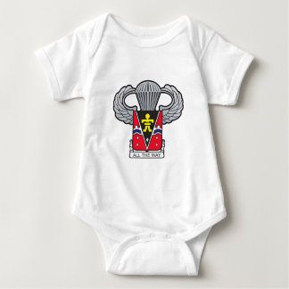 509th Airborne with Airborne Wings 2 Baby Bodysuit