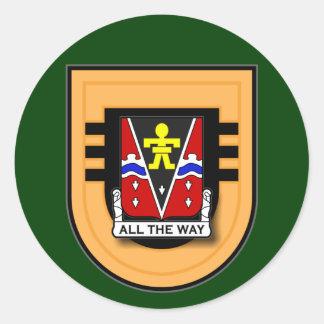 509th Infantry Regiment - 3d Battalion Flash Classic Round Sticker
