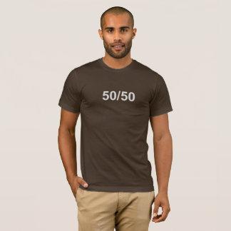 50/50 Brown and Khaki Tee