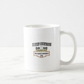 50 50 custody in every courthouse coffee mug