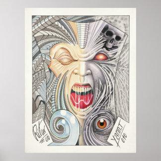 50/50 TATTOO ART repro 2 Poster