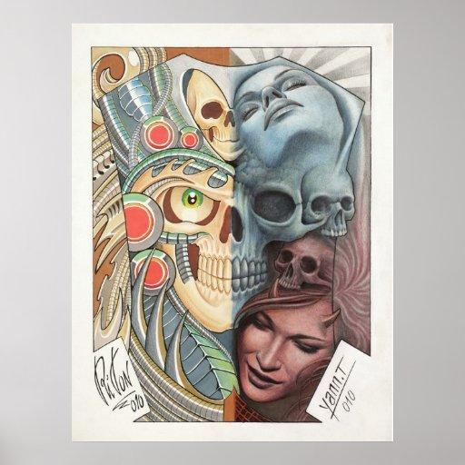 50/50 TATTOO ART repro Print