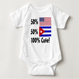 50% American 50% Cuban 100% Cute Baby Bodysuit