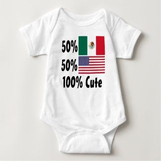 50% American 50% Mexican 100% Cute Baby Bodysuit