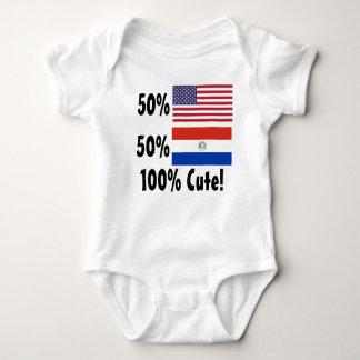 50% American 50% Paraguayan 100% Cute! Baby Bodysuit