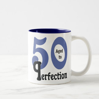 50 and Aged to Perfection Two-Tone Mug