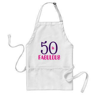 50 And Fabulous 50th Birthday Gift Apron