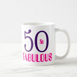50 And Fabulous 50th Birthday Gift Coffee Mug