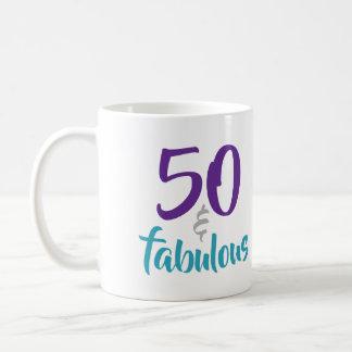 50 and Fabulous - 50th Birthday Gift Idea Coffee Mug