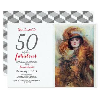 50 and Fabulous 50th Birthday Invitation