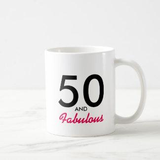 50 and Fabulous 50th Birthday Mug Gift Idea