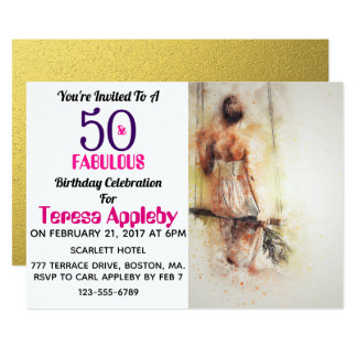50 And Fabulous 50th Birthday Party Invitation
