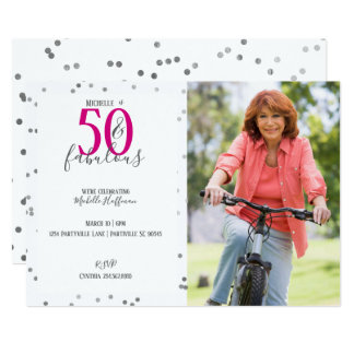 50 and Fabulous 50th Birthday Party Invitations