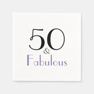 50 And Fabulous 50th Birthday Party Paper Napkins